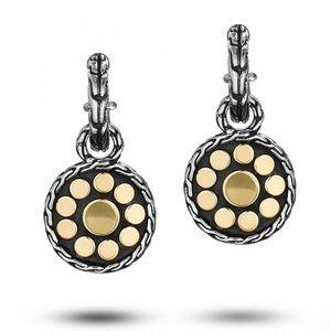 John Hardy 18K&Silver  Dot Collection earrings